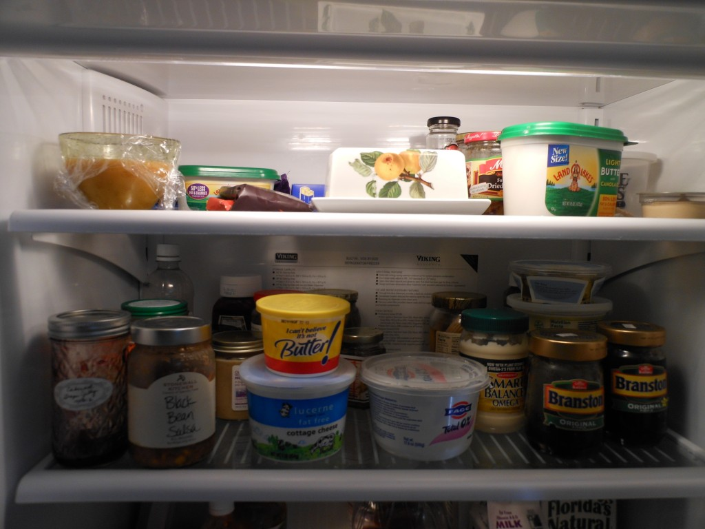 Nothing to eat in an empty-nesters fridge